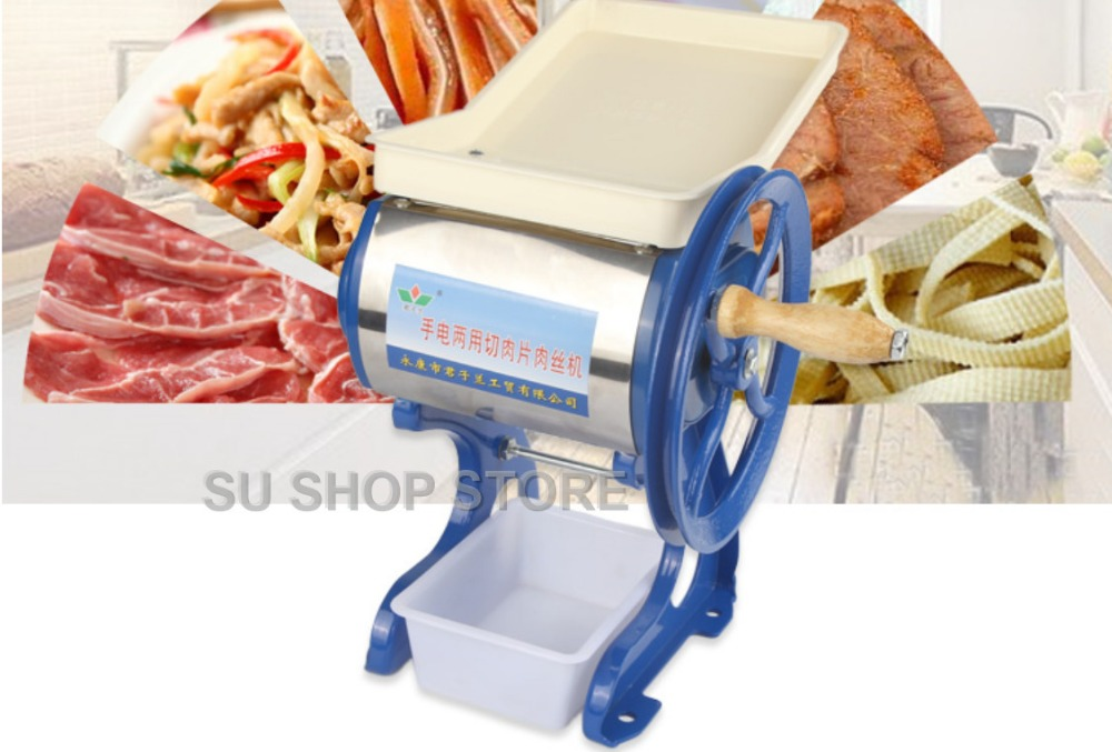 все цены на Household commercial manual pig meat slicer Grinder Cutter hand-cranked beef lamp grinding Chopper machine meatloaf mincer онлайн