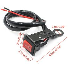 Motorcycle Switch Electric Bike Handlebar Switch Accident Hazard Light Switch ON/OFF Button Power Control ATV Moto Handle Switch