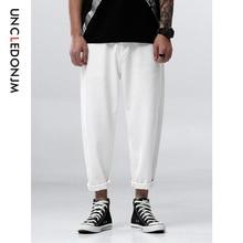 UNCLEDONJM Men Jeans White Denim Trousers For Male Spring And Autumn Retro Pants Casual Classical Men's Jeans Plus Size 506W недорго, оригинальная цена