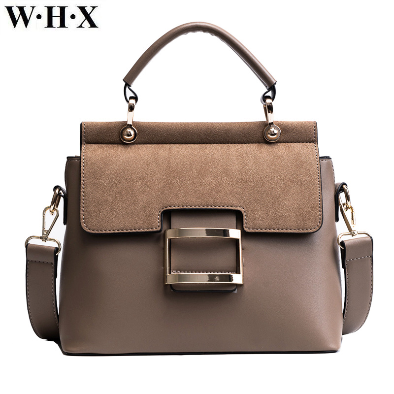 WHX 2018 New High Quality Women Handbags Metal Hasp Female Shoulder Bags Fashion Pu Leathe Women Messenger bags Tote Briefcase star wars high quality pu leathe with