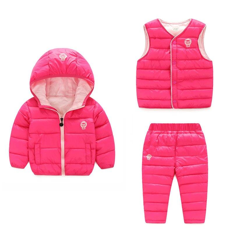 Kinder Set Jungen Mädchen Kleidung Sets Winter 3 Stücke Hoody - Kinderkleidung - Foto 2