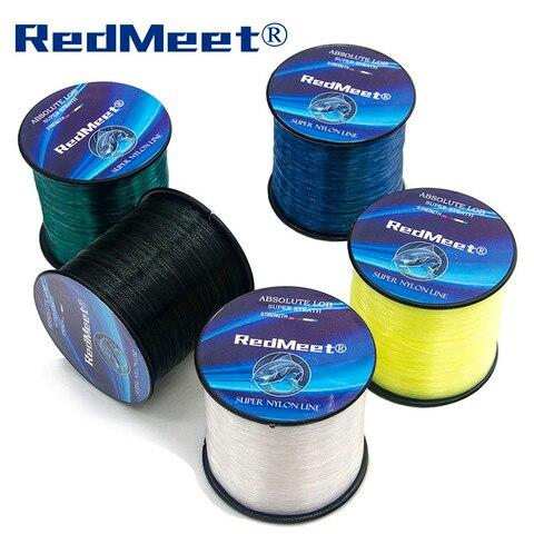 redmeet nylon linha de pesca super forte linha de pesca de nylon 1000 m linha