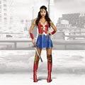 Сексуальная Искусственной Wonder Woman Костюмы Косплей Супергерл Костюм Хэллоуин Костюмы для Женщин Взрослых Необычные SuperHero Dress
