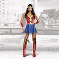 Sexy Faux Wonder Woman Costumes Cosplay Supergirl Costume Halloween Costumes for Women Adult Fancy SuperHero Dress