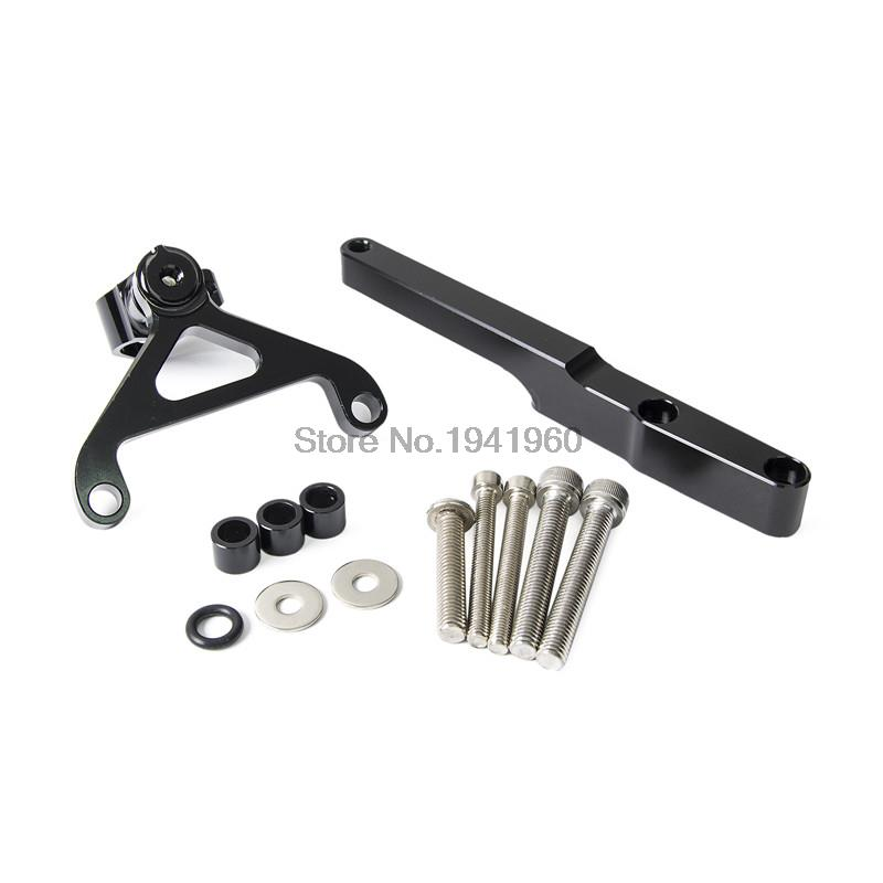 ФОТО CNC Mounting Kit Bracket Of Steering Damper For Honda CB1000R 2008 2009 2010 2011 2012 2013 2014 2015