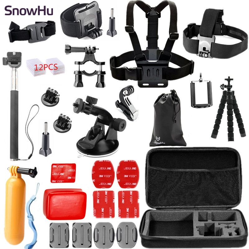 SnowHu for Gopro Accessories Set Chest Head Wrist Mount Strap Hand bobber for Go pro Hero 7 6 5 4  XiaomiYi SJCAM Camera GS26SnowHu for Gopro Accessories Set Chest Head Wrist Mount Strap Hand bobber for Go pro Hero 7 6 5 4  XiaomiYi SJCAM Camera GS26