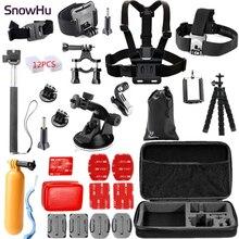 Gopro Accessories Set  kit Mount SJCAM  SJ7000 60 chest xiaomi yi Camera Case Tripod For Go pro Hero 4 3+2 Black Edition GS26 цена