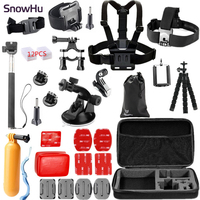 Gopro Accessories Set Kit Mount SJCAM SJ7000 60 Chest Xiaomi Yi Camera Case Tripod For Go