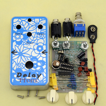 NEW DIY Electric Guitar Delay Analog Effect Pedal guitarra delay with 1590B  High Quality footswitch Effect  pedal kits