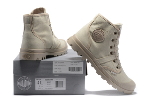 Image 2 - PALLADIUM Pampa Hi Work Casual Breathable Sneakers Lace Up  Ankle Boots Lace Up Canvas Men Casual Shoes Size 39 45