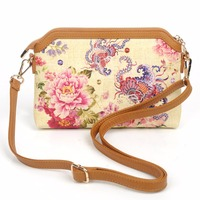 2016 FASHION HOT SALE HIGH QUALITY CANVAS MATERIAL DIGITAL PRINT WOMEN CHINA DESIGN CROSSBODY FLOWER SMALL