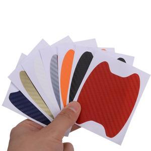 Image 3 - حار مبيعات 4 قطعة ألياف الكربون مقبض باب السيارة المضادة للخدش غشاء واقي ملصق مجموعة 7 الألوان المتاحة