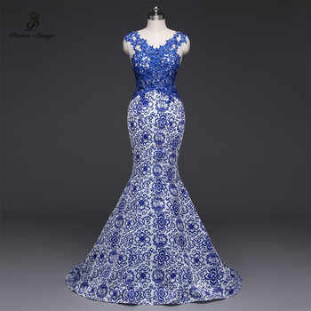 Poems Songs 2019New Long Evening Dress vestido de festa Sexy Backless Luxury Blue  formal party dress prom gowns China - DISCOUNT ITEM  51% OFF All Category