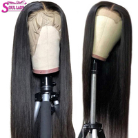 HD Transparent Glueless Lace Front Human Hair Wigs Straight For Black Women Remy Brazilian Hair Front Wigs Pre Plucked Lace Wig