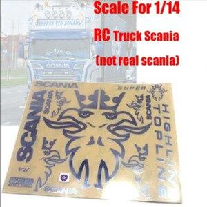 Набор металлических наклеек R/C для грузовика Скания, Тамия, 1:14, весы, rc, Скания, актрос, r620 56323, r470, тракторный, трейлер, грузовик