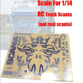 цена на R/C scania truck metal sticker decals kit for tamiya 1:14 scale rc scania actros r620 56323 r470 tractor trailer truck