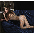 Сексуальное Женское белье Открытая Промежность Ажурные Body Чулки Платье Babydoll Leopard Пижамы Пижамы Комбинезон Playsuit Комбинезон