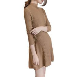 Для беременных женщин осенние трикотажные Платья-свитеры водолазка уздечка Повседневное длинный рукав Длинная блузка для беременных
