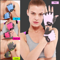 AOLIKES 1 Pair Gym Gloves Women Men Anti Slip Breathable Dumbbells Weightlifting Half Finger Fitness Sport