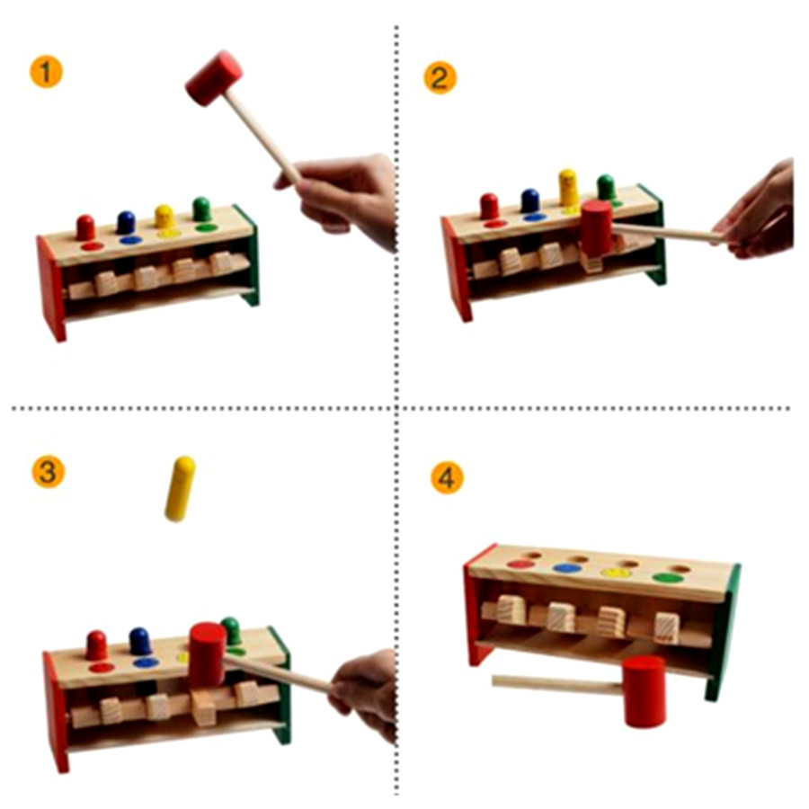 Colorful-Mini-Cute-Wooden-Hammer-Pounding-Bench-Blow-Air-Interesting-Toy-For-Baby-Kids-Gifts-5
