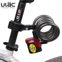 ULAC Bicycle Lock Bike Alarm Cable Mountain Bike Lock Wire AL3P 10*1200mm Bicycle Accessories Bicicleta Candado Bicicleta