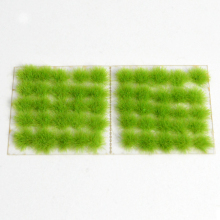 60pcs/box Model Green Grass Tuft Architecture Scale Needle Bushes For Diorama Miniature Building Garden Scene Layout Kits
