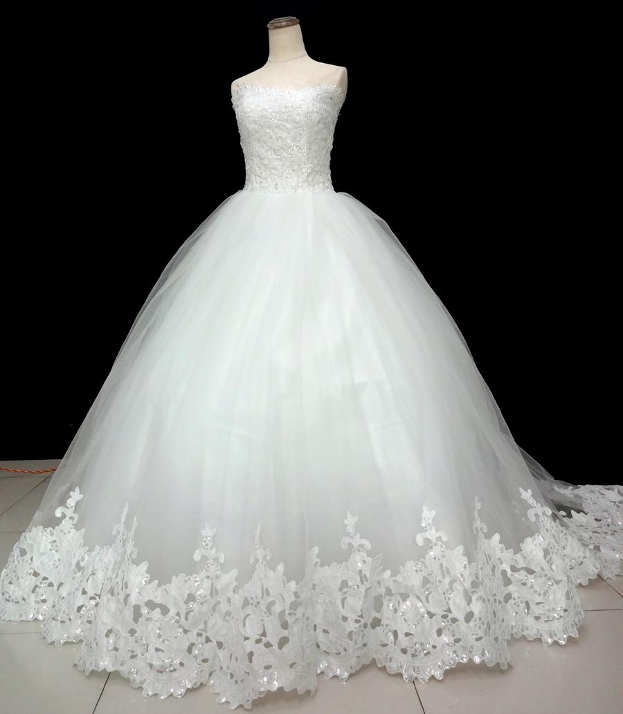 45bb88ec4bf Spring 2018 new Korean Slim trailing wedding bride simple wedding  dressFashion slim brief bride tube top plus size wedding dress-in Wedding  Dresses from ...