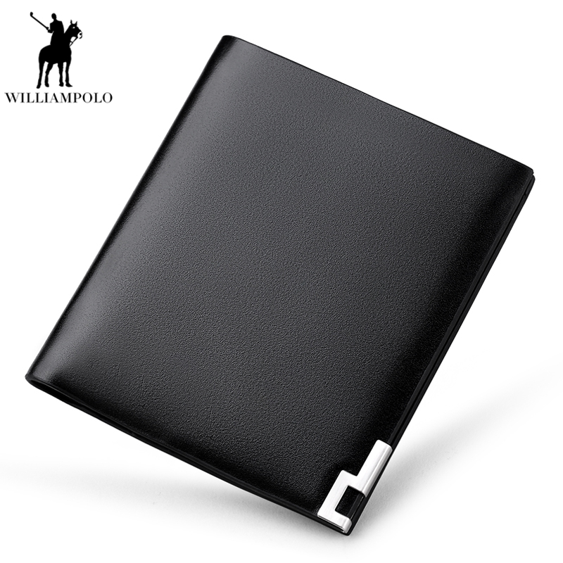 Ultra Thin Mini Design WILLIAMPOLO 2018 100% Genuine Leather Wallet Men Credit Card Holders Mini Wallet Men Coin Purse PL189 williampolo genuine leather men design slim thin mini wallet male small purse credit card short coin ultrathin wallet pl250
