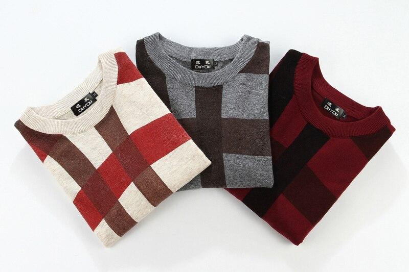Одежда высшего качества Для мужчин сращивания принт пуловер, Рождественский свитер в британском стиле ретро Для мужчин s бренд Повседневно... - 6