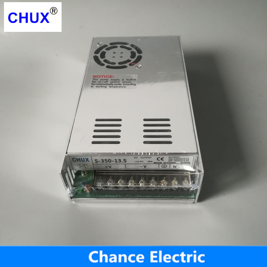 350W 13.5V Switching power supply 25.8A Single Output 220V Input  S-350W-13.5V With Fan Regulate AC to DC Led Switch Power meanwell 12v 350w ul certificated nes series switching power supply 85 264v ac to 12v dc