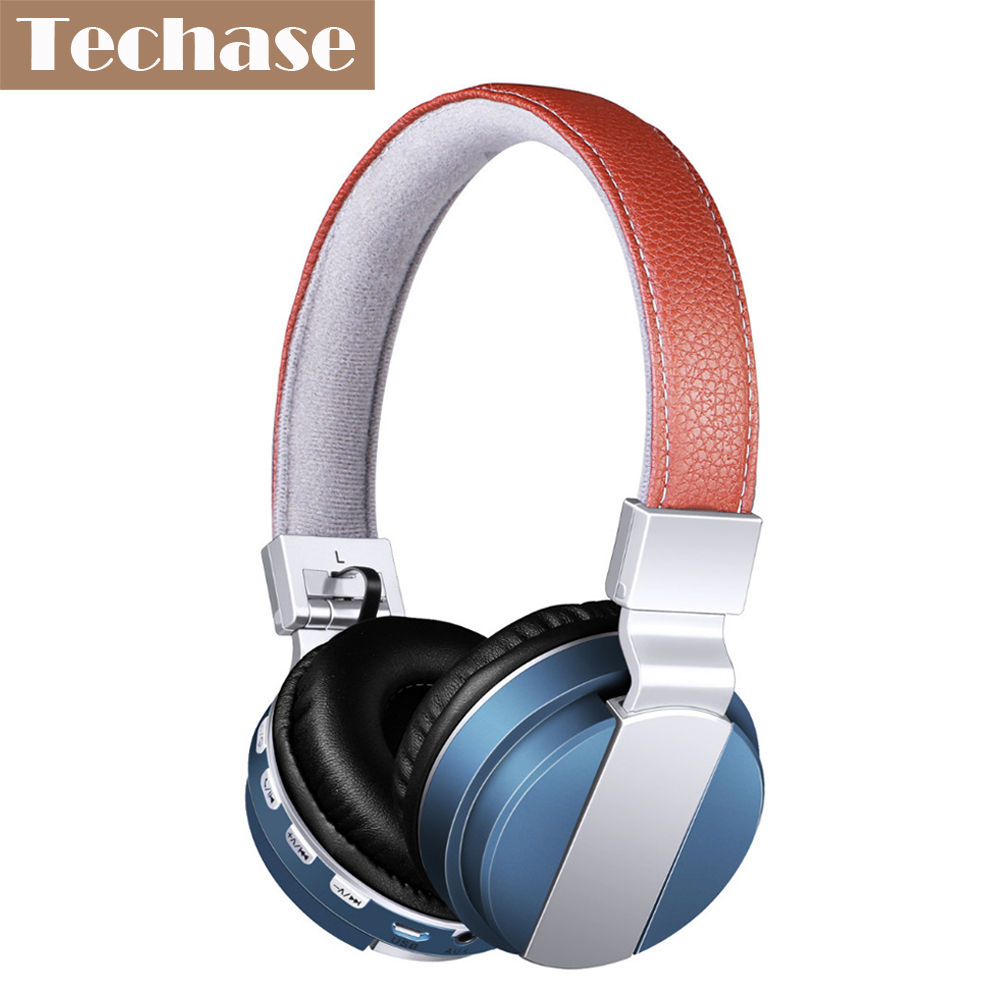 Techase Fashion Wireless Bluetooth Headphones Headband Earphone For Xiaomi Support TF Card FM Radio AUX-IN Sports audifonos Mic