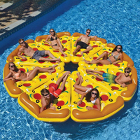 Inflatable Swimming Float Pizza Pool Floats Raft Beach Swimming Ring Water Fun Floating Toys Air Mattresses Floating Row
