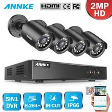 ANNKE 1080 1080P Lite 4CH/8CH 5in1 + DVR セキュリティ監視ビデオ CCTV システム 4X スマート Ir 弾丸屋外防水カメラ