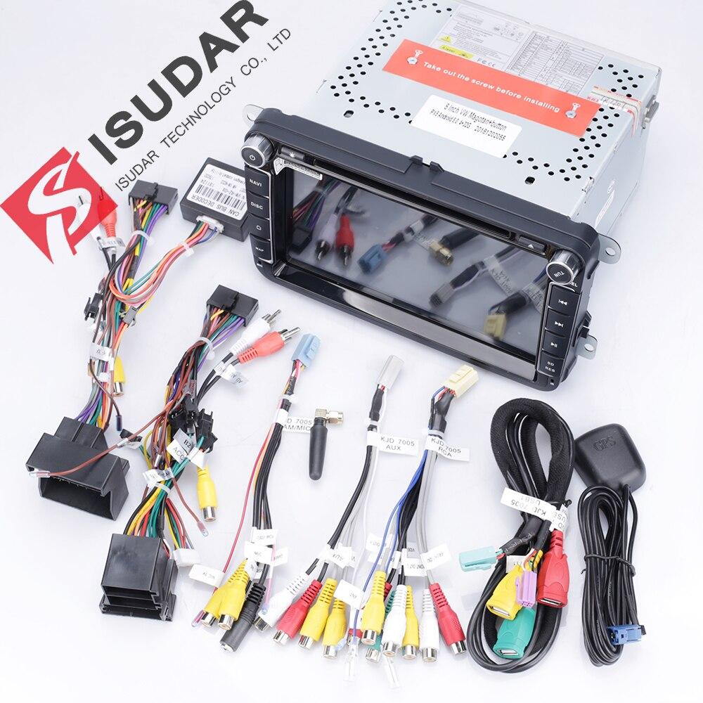Isudar 2 Din reproductor Multimedia Android 8,1 Radio Auto para Skoda/Seat/Volkswagen/VW/Passat b7/POLO/GOLF 5 6 DVD GPS Quad-core - 6