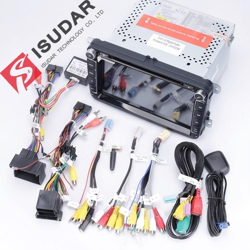 Isudar Deux Din Voiture lecteur multimédia Android 8.1 auto-radio Pour Skoda/Siège/Volkswagen/VW/Passat b7/ POLO/GOLF 5 6 DVD GPS 4 Noyaux - 6