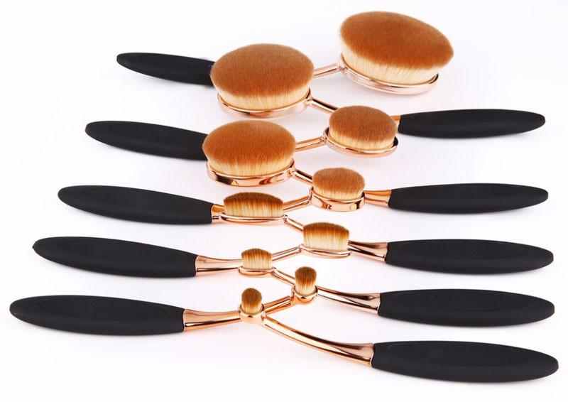 Oval Makeup Brush Set (6)
