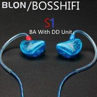 New Bosshifi S1 In Ear Earphone BA With DD Balanced Armature Headphones 3 5mm Headset DIY