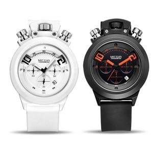 Image 4 - Часы MEGIR мужские наручные в стиле милитари, Оригинальные спортивные аналоговые, с хронографом и датой, с силиконовым ремешком, 2004