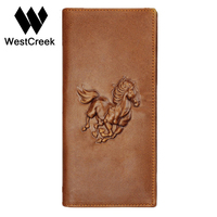 Unique Design Crazy Horse Pattern Genuine Leather Men S Wallet Long With Short By GMW003