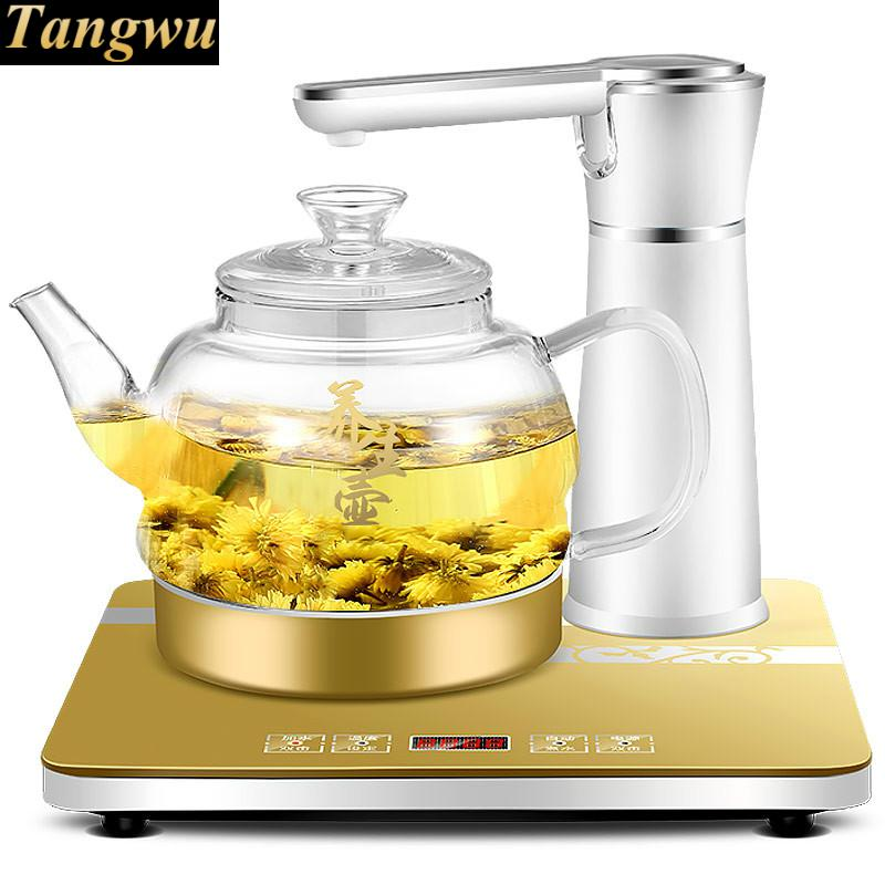 Automatic upper kettle kettles with high boron silicon glass electric teapot