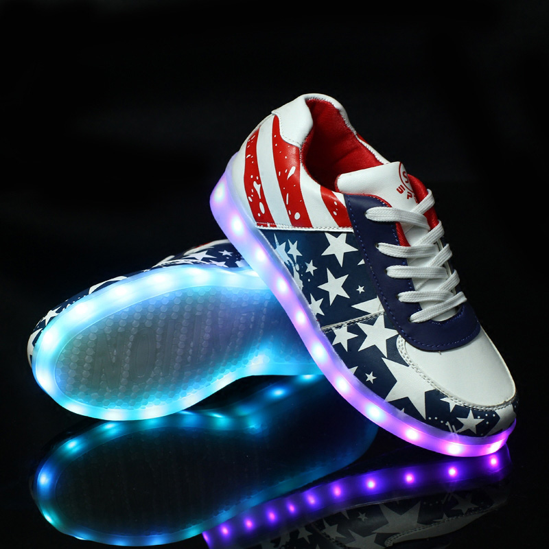 Led Shoes For Women Light Up Casual Shoe Colorful Glowing With Usb Charger Lights Luminous Shoes