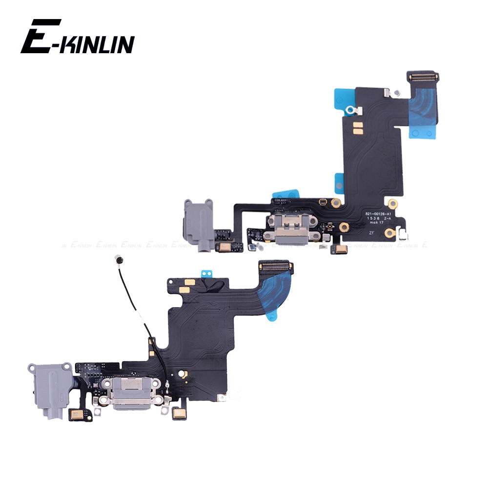 Charger Charging Port Dock <font><b>Connector</b></font> Flex Cable For <font><b>iPhone</b></font> 6 <font><b>6S</b></font> Plus With MicroPhone HeadPhone Audio Jack RePlacement Part image