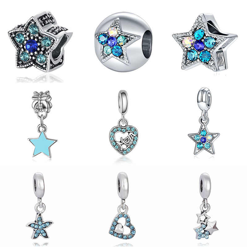Fit Pandora Charms Silver 925 Original Bracelet Jewelry Valentine's Day Mary Poppins Bijoux Sieraden Kolczyki Crystal Beads