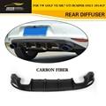 Golf MK7 O Styling Carbon fiber Racing Rear Diffuser Lip for VW Golf VII MK7 GTI Bumper Only 2014UP
