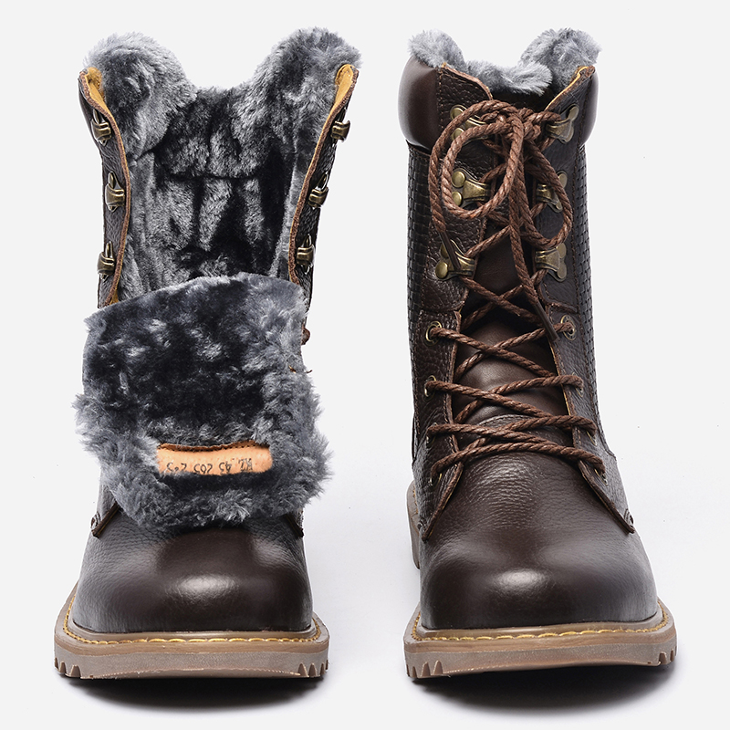 Mens Leather Winter Boots Promotion-Shop for Promotional Mens ...