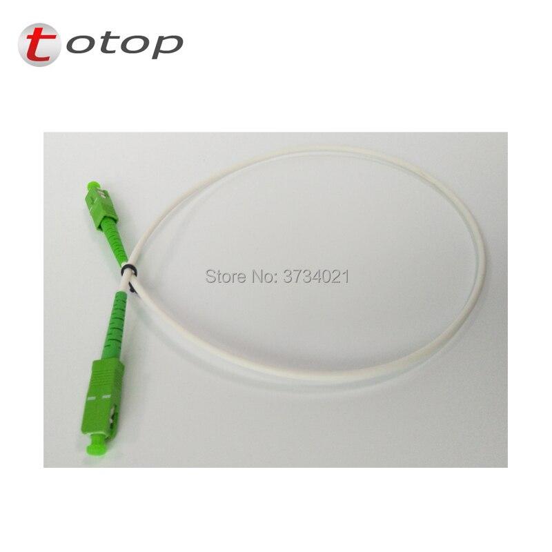 10pcs/lot White Color 0.5m Fiber Optic Patch Cord G657B3 SC APC SM SX (LSZH) 3.0mm Fiber Jumper Singlemode Simplex