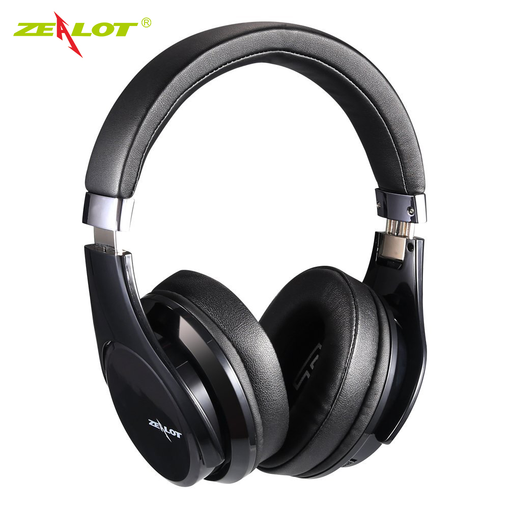ZEALOT B21 Deep Bass Portable Touch Control Wireless Bluetooth Over-ear Headphones with Built-in Mic for iPhone 6 6s 7/7 Plus merrisport wireless bluetooth foldable over ear headphones headsets with mic for for cellphones ipad iphone laptop rose gold