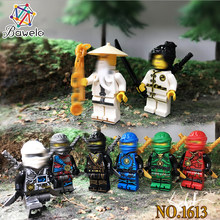 6/8/12pcs/lot Compatible Legoings Ninjagoed Figure LIoyd Zanes KAIJAYS Master Wuu With Weapons Building Blocks For Children Toys(China)