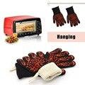 Оптовая красный перчатки термостойкие перчатки ДЛЯ БАРБЕКЮ перчатки Защиты рук от огня тепла до 932F