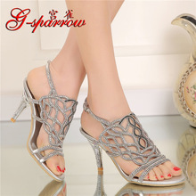 2019 Summer High Quality Sexy Womens Shoes Leather Chunky Heel Peep Toe Comfort Sandals Casual